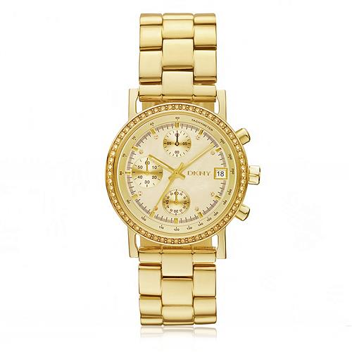 Relógio Feminino DKNY Analógico GNY8340/Z Dourado com Cristais