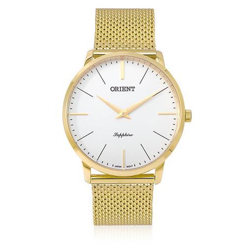 Relógio Masculino Orient Sapphire Analógico MGSSS004 S1KX Dourado Esteira