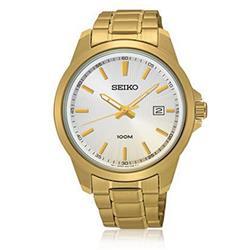 Relógio Masculino Seiko Analógico SUR158B1 Dourado