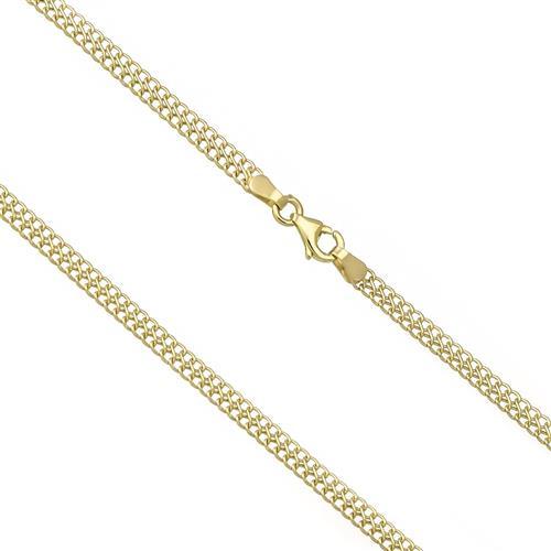 Corrente Feminina Malha Italiana com 50 cm, em Ouro Amarelo