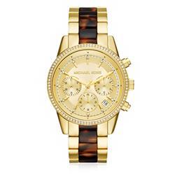 Relógio Feminino Michael Kors Analógico MK6322/5DN Dourado com Cristais e Acetato