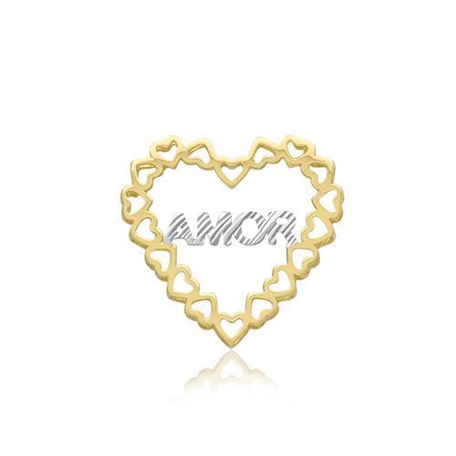 Pingente Corações em Ouro Amarelo