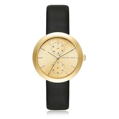 Relógio Feminino Michael Kors Analógico MK2574/2DI Couro Preto