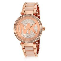 - - - Relógio Feminino Michael Kors Analógico MK6176 / 4TN Aço Rose com Cristais