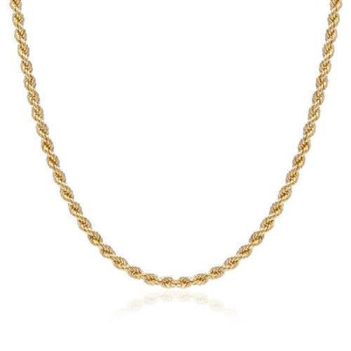 Corrente Feminina Malha Corda, 5 gramas em Ouro Amarelo