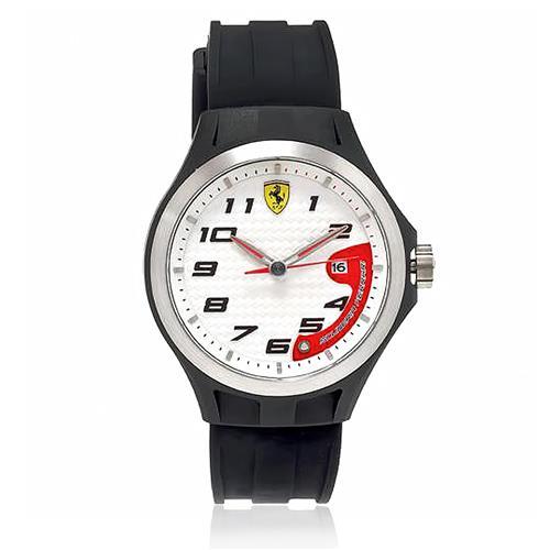 Relógio Masculino Scuderia Ferrari Analógico Borracha Preta