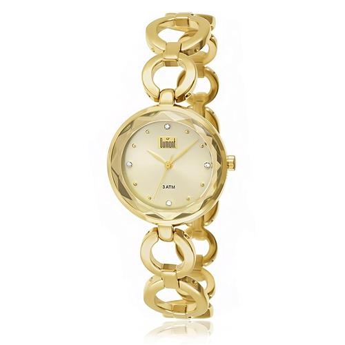Relógio Feminino Dumont Analógico DU2035LMQ/4X Dourado com Cristais