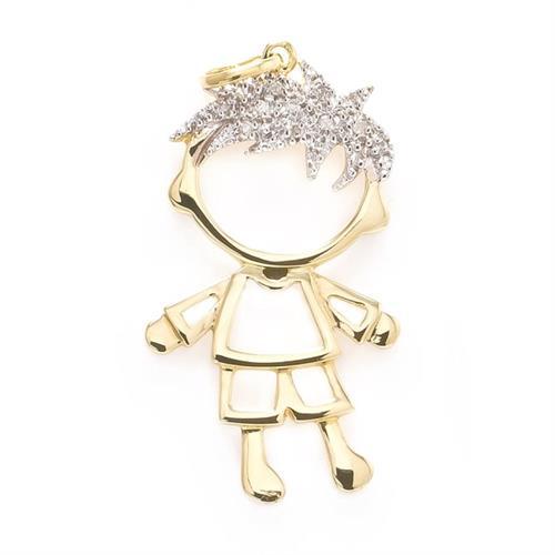 ee6eb9bfd7 Pingente de ouro Menino com 11 Diamantes