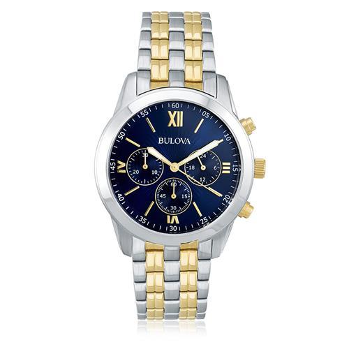 Relógio Masculino Bulova Analógico WB22346A Fundo Azul