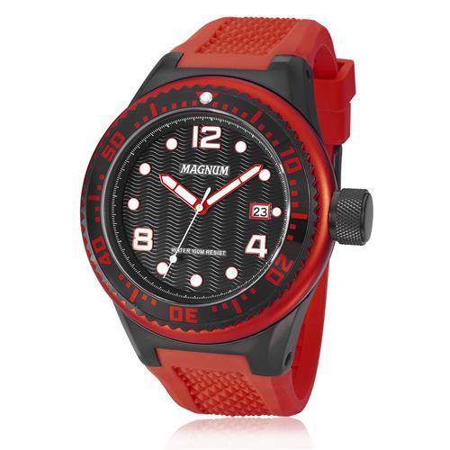 ae26bfb3132 Relógio Masculino Magnum Analógico MA34021V Borracha Vermelha