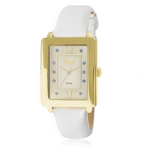 Relógio Feminino Dumont Analógico DU2036LTJ 2K Couro Branco 535125c3fa