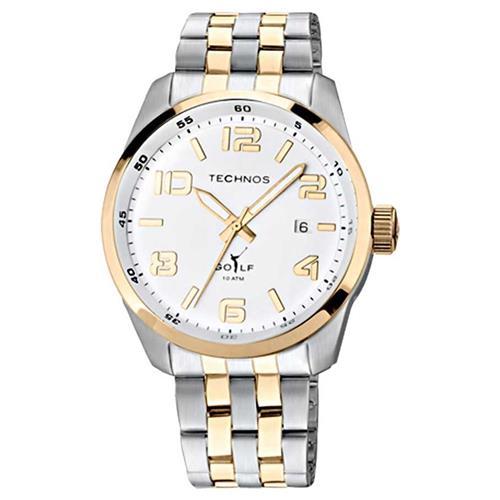 a6b3367bb7e Relógio Masculino Technos Classic Golf Analógico 2315GD 5B Aço misto