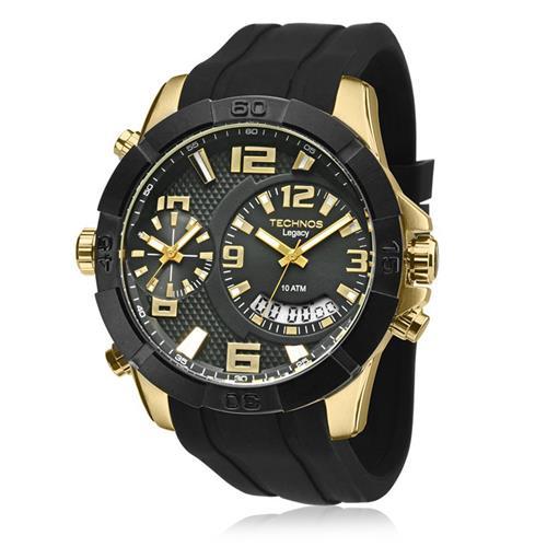 52205b97f0011 Relógio Masculino Technos Classic Legacy Analógico T205FJ 8P Borracha  siliconada