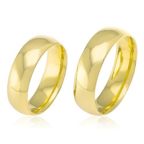 Par de Alianças em Ouro Amarelo