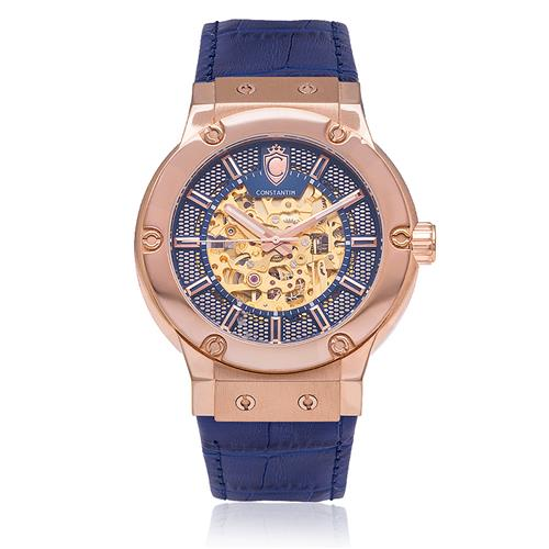 4c5ff1f861c Relógio Masculino Constantim Skeleton ZW30115A Rose Blue Automatic