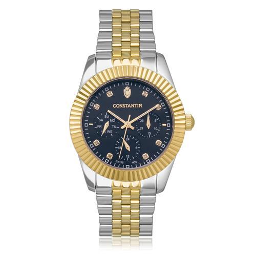 bcc615046b3 Relógio Masculino Constantim Diamonds Mixed Black Analógico 6311L-MB Aço  Misto