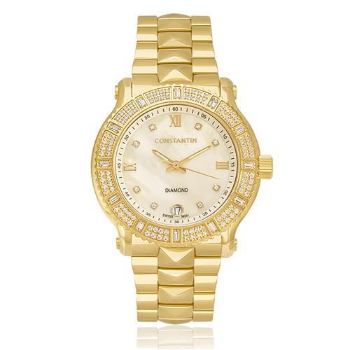 8265b600fa5 Relógio Feminino Constantim Diamonds Gold Analógico 6326L-G Dourado