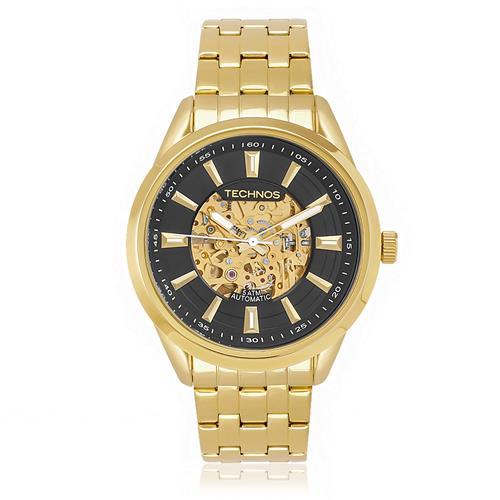 8b29734bba6 Relógio Masculino Technos Esqueleto Automático 8N24AF 4P- Fundo Preto