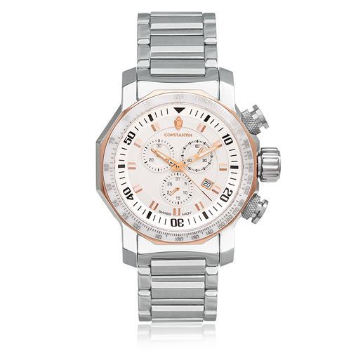 3482139f20d Relógio Masculino Constantim Boss White Analógico 6188G-W Aço
