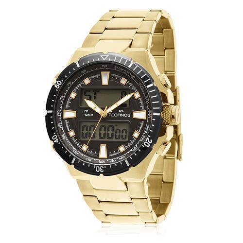44620539870 Relógio Masculino Technos Performance ANA-DIGI 0527AB 4P Dourado