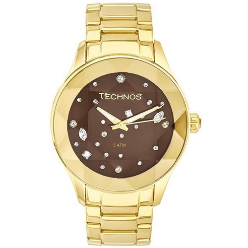 Relógio Feminino Technos Elegance Crystal Analógico 2039AT 4M Dourado 92742a7bec