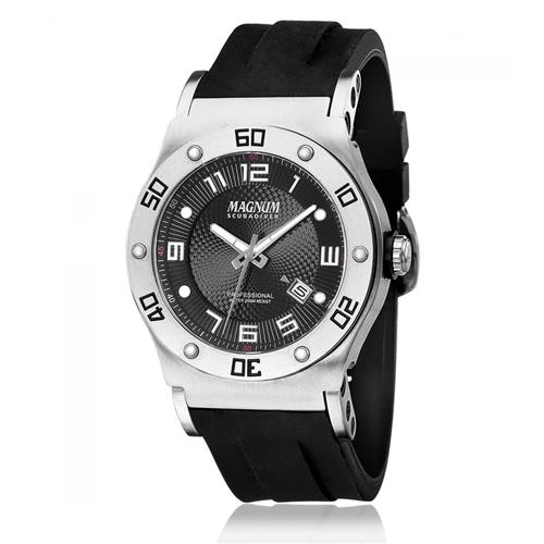 593d76fa5b3 Relógio Masculino Magnum ScubaDiver Analógico MA30945T Borracha