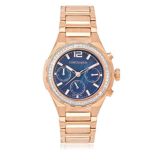 1a59d7da83e Relógio Feminino Constantim Rose Blue Analógico 6671L-RA Rose