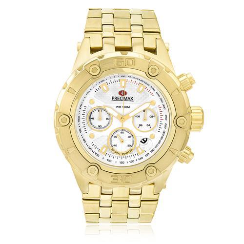 Relógio Masculino Swiss Precimax Analógico PX15015 Dourado