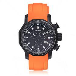 Relógio Masculino Constantim Boss Executive Sport Orange Black Analógico 6188G-OB Borracha Laranja
