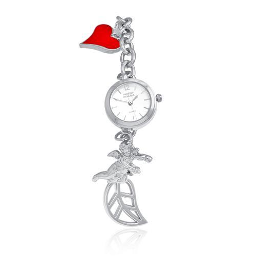 Relógio Feminino Carrara com Pulseira Berloqueira quartz analógico RR28899Q berloque com pingentes