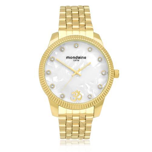 Relógio Feminino Mondaine Analógico 76579LPMKDE3 Dourado