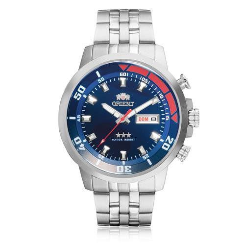 b381e9a2aa3 Relógio Masculino Orient Automático 469SS058 D1SX Aço fundo Azul