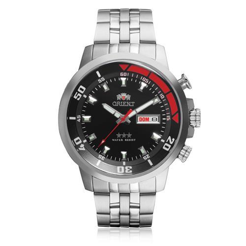 5c7584b7d03 Relógio Masculino Orient Automático 469SS058 P1SX Aço fundo Preto