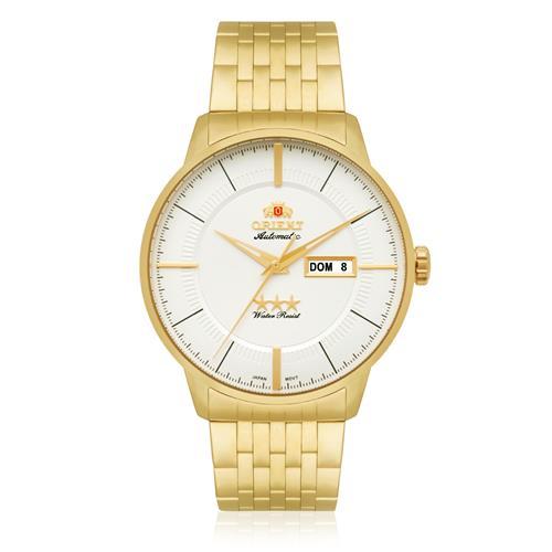 3e28c663412 Relógio Masculino Orient Automático 469GP061 S1KX Aço Dourado