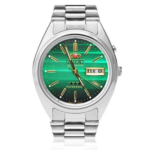 9774f5ad1bf Relógio Masculino Orient Automático 469WA3 E1SX Fundo Verde