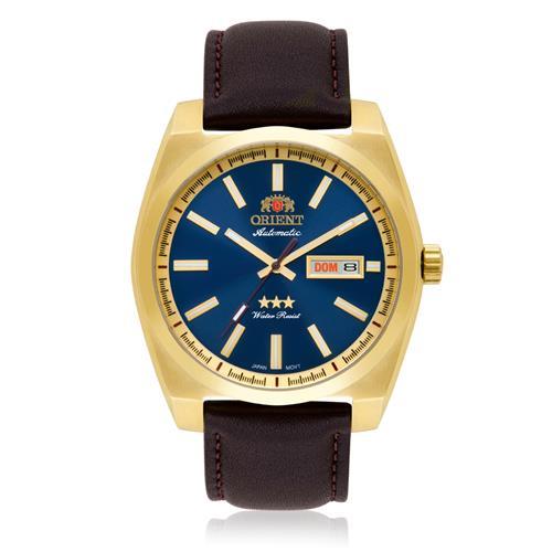 Relógio Masculino Orient Automático 469GP069 D1NX Couro Marrom