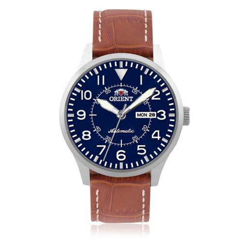 8116606b8ad Relógio Masculino Orient Automático 469SS054 D2MX Couro Marrom