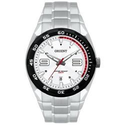 Relógio Masculino Orient Analógico MBSS1185 SVSX Aço fundo Branco