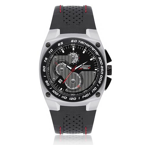 Relógio Masculino Orient SpeedTech Analógico MBSCC012 P1PX Couro Preto