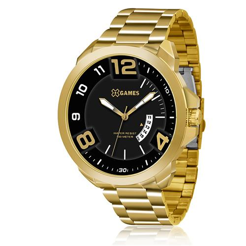 15f57599165 Relógio Masculino XGames Analógico XMGS1016 P2KX Aço Dourado