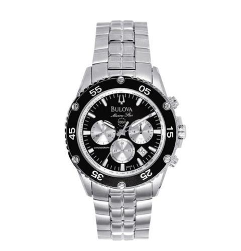 e5fc77b38f1 Relógio Masculino Bulova Marine Star Analógico WB30686T Catraca Preta
