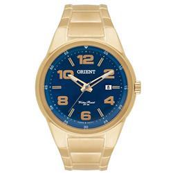 Relógio Masculino Orient Analógico MGSS1095 DKX Dourado com fundo azul