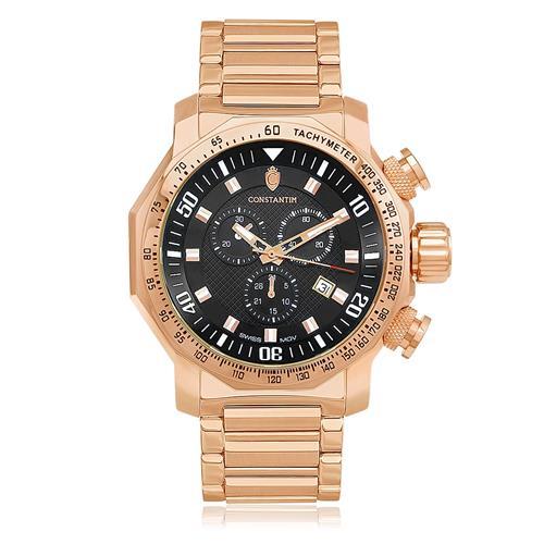 96ab2de6c45 Relógio Masculino Constantim Boss Rose Gray 6188G-G Aço Rose