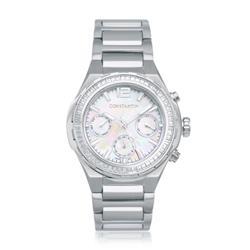 Relógio Feminino Constantim Silver Analógico 6671L-S Aço