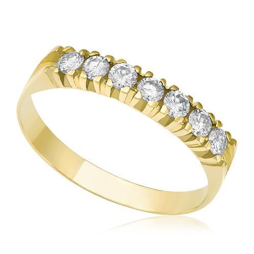 4fc993b5825d8 Meia aliança de Diamantes com 30 pontos