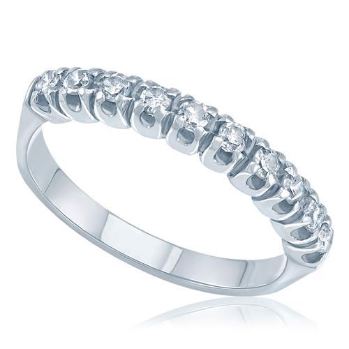 Meia Aliança com 25 pontos de Diamantes em ouro branco c604051858