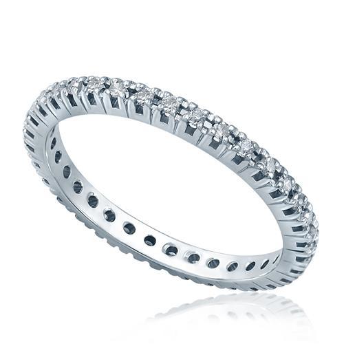 f42bb05b9843b Aliança de inteira de Diamantes totalizando 35 pontos em Ouro Branco