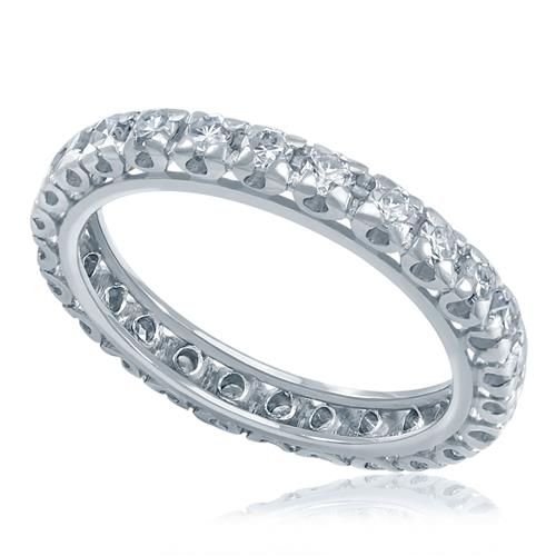 aa7c4789e353c Aliança de inteira de Diamantes totalizando 50 pontos em Ouro Branc