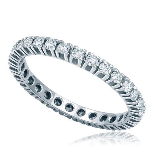 Aliança de inteira de Diamantes totalizando 45 pontos em Ouro Branco 4018d19035