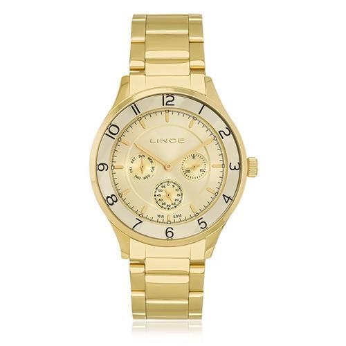 Relógio Feminino Lince Analógico LMG4377L C1KX Dourado